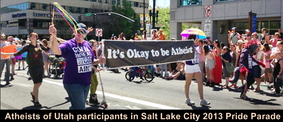 Atheists of Utah 2013 Pride Parade