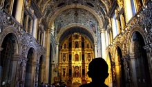 Cathedral interior in Oaxaca (Photo, Andrew McMillan_BurningWell)