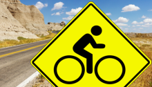 Bicycle Warning Sign
